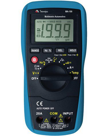 Multímetro Automotívo Digital Minipa MA-150  - MRE Ferramentas