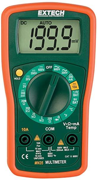 Multímetro Digital Extech MN35  - MRE Ferramentas