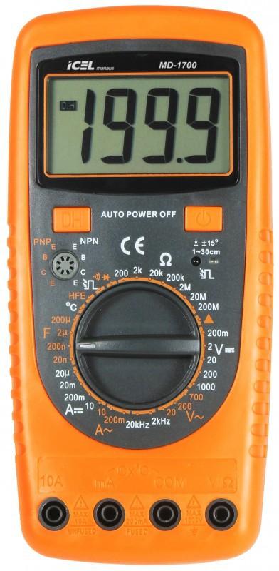Multímetro Digital Icel MD-1700  - MRE Ferramentas