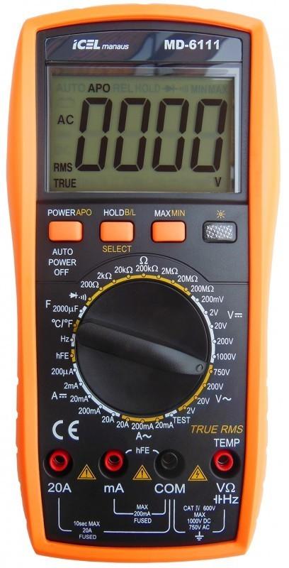 Multímetro Digital Icel MD-6111  - MRE Ferramentas