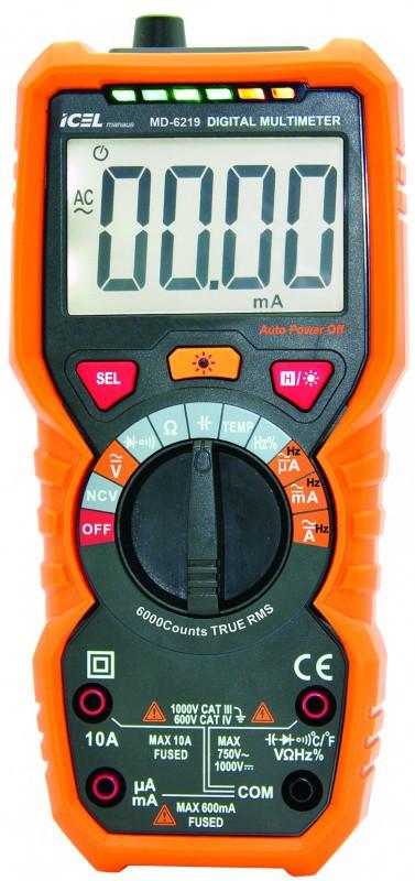 Multímetro Digital Icel MD-6219  - MRE Ferramentas