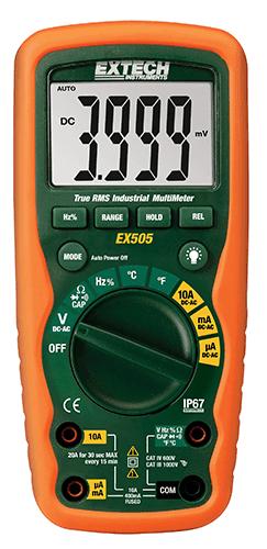 Multímetro Digital Industrial True RMS Extech EX505  - MRE Ferramentas