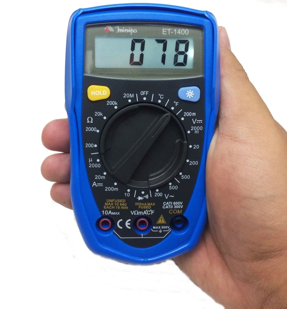 Multímetro Digital Minipa ET-1400  - MRE Ferramentas