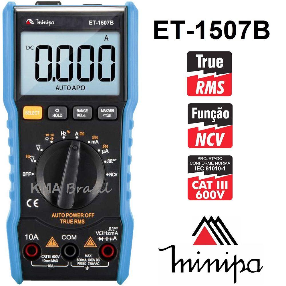 Multímetro Digital Minipa ET-1507B  - MRE Ferramentas