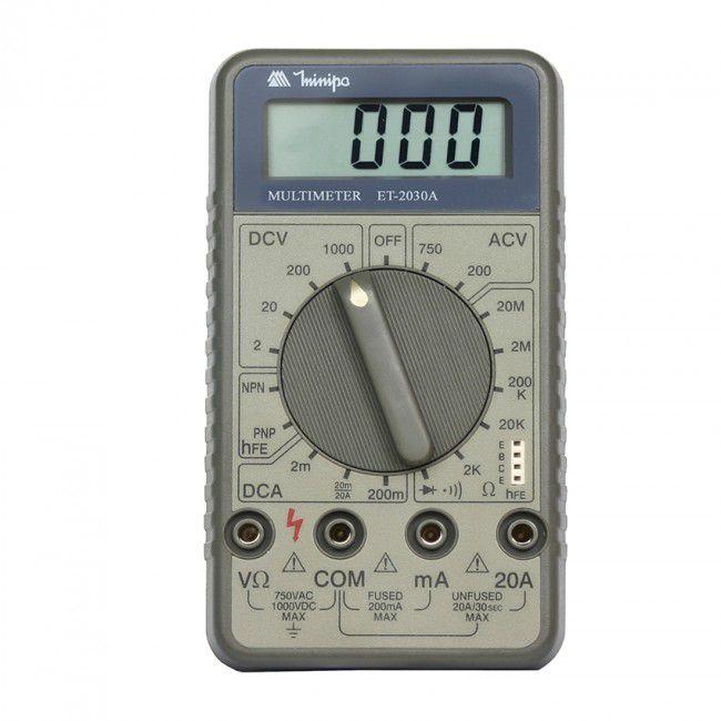 Multímetro Digital Minipa ET-2030  - MRE Ferramentas