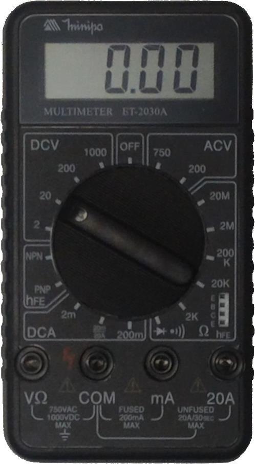 Multímetro Digital Minipa ET-2030A  - MRE Ferramentas