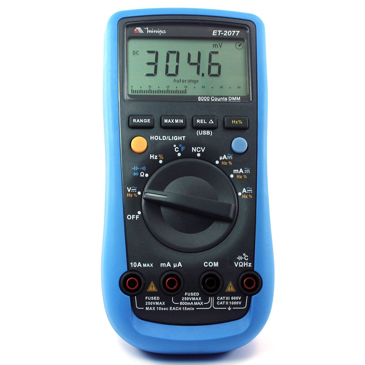 Multímetro Digital Minipa ET-2077  - MRE Ferramentas