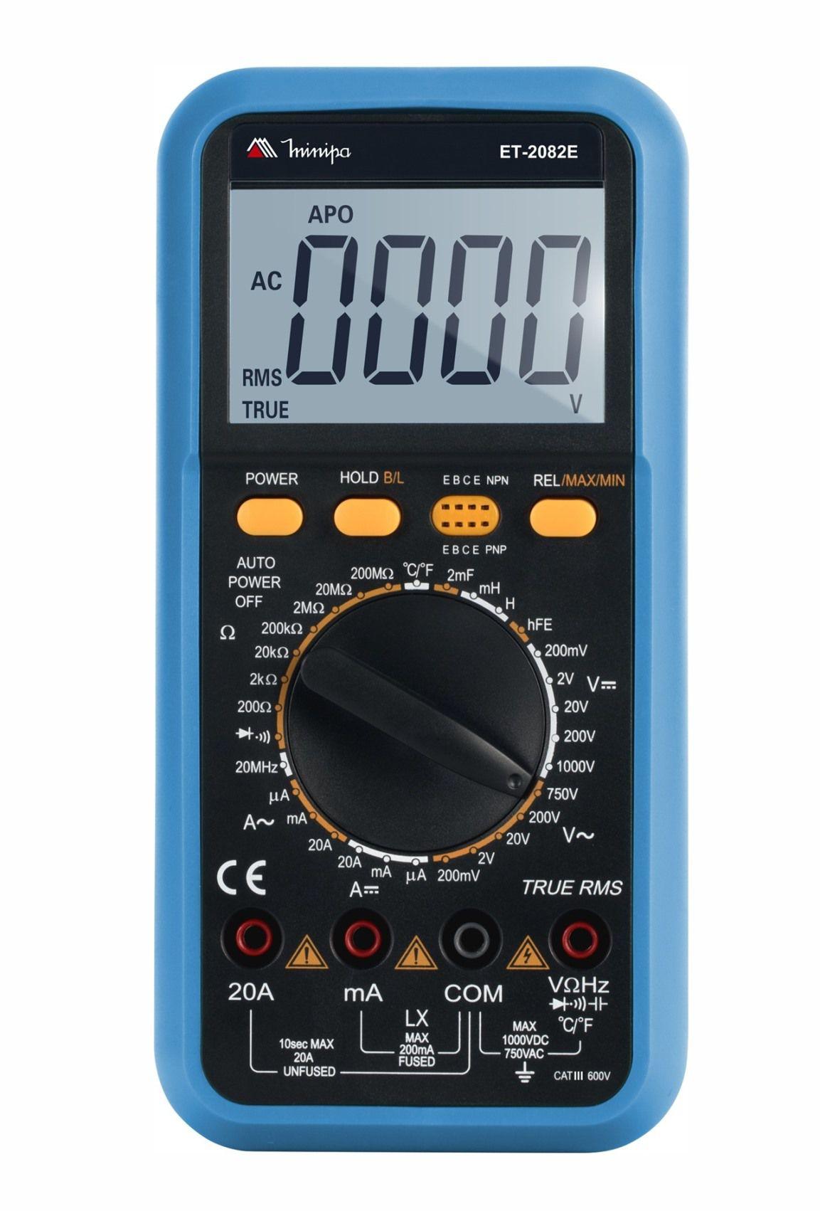 Multímetro Digital Minipa ET-2082E  - MRE Ferramentas