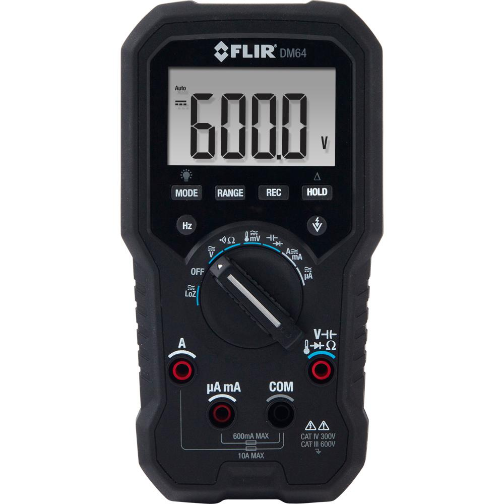 Multímetro Digital TRMS HVAC com Medição de Temperatura Flir DM-64  - MRE Ferramentas
