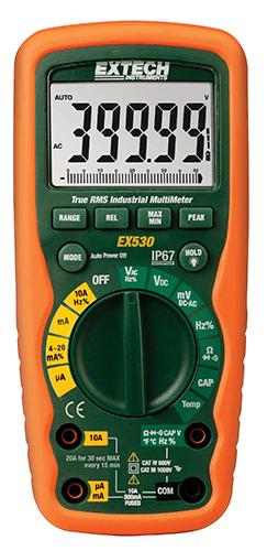 Multímetro Industrial True RMS para serviços pesados Extech EX530 (Refurbished)  - MRE Ferramentas