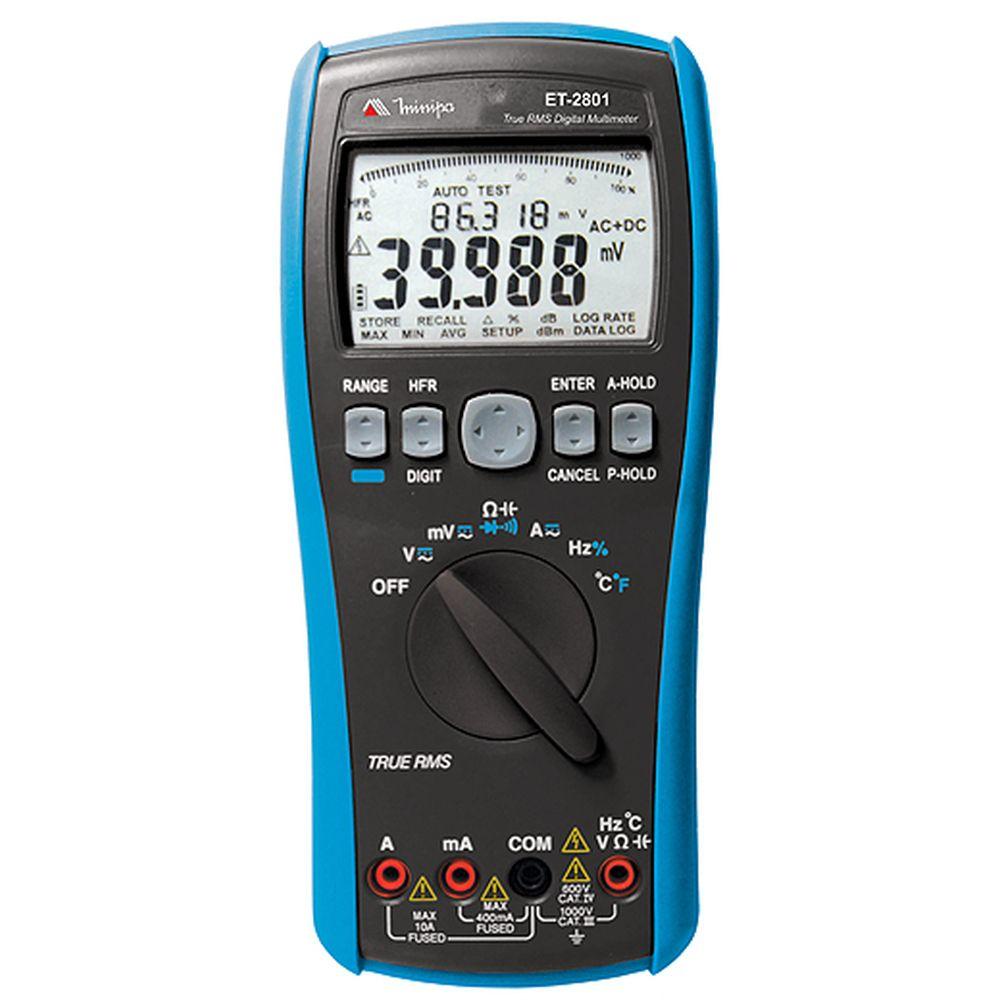 Multímetro TRUE RMS CAT IV USB MINIPA ET-2801  - MRE Ferramentas