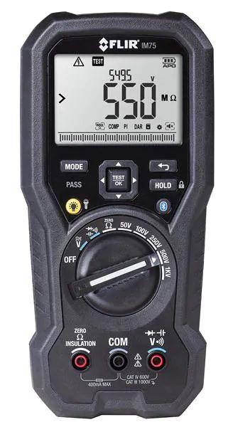 Multímetro Megômetro Isolamento e DMM com METERLINK® Flir IM75  - MRE Ferramentas
