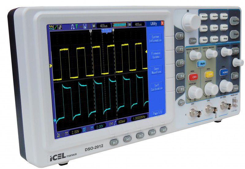Osciloscópio Digital 100MHz 2 Canais Icel DSO-2012   - MRE Ferramentas