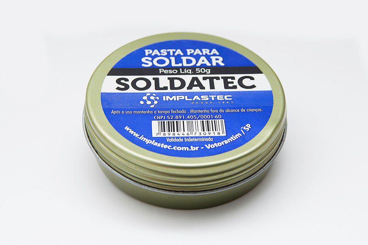 Pasta para Solda Soldatec Implastec Lata 50grs  - MRE Ferramentas
