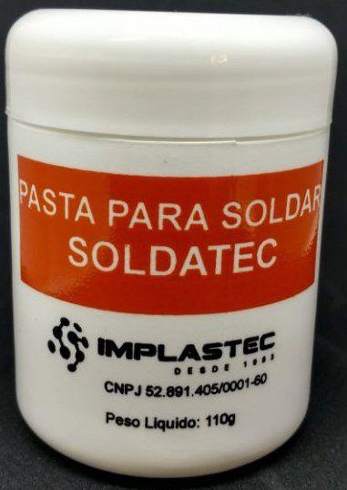 Pasta para Solda Soldatec Implastec Pote 110g  - MRE Ferramentas
