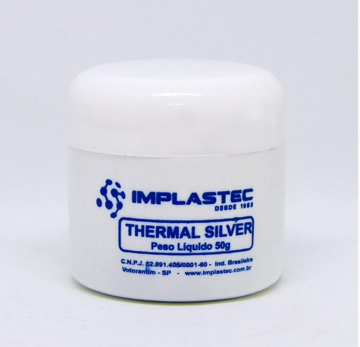 Pasta Térmica Com Prata Thermal Silver Implastec  - MRE Ferramentas