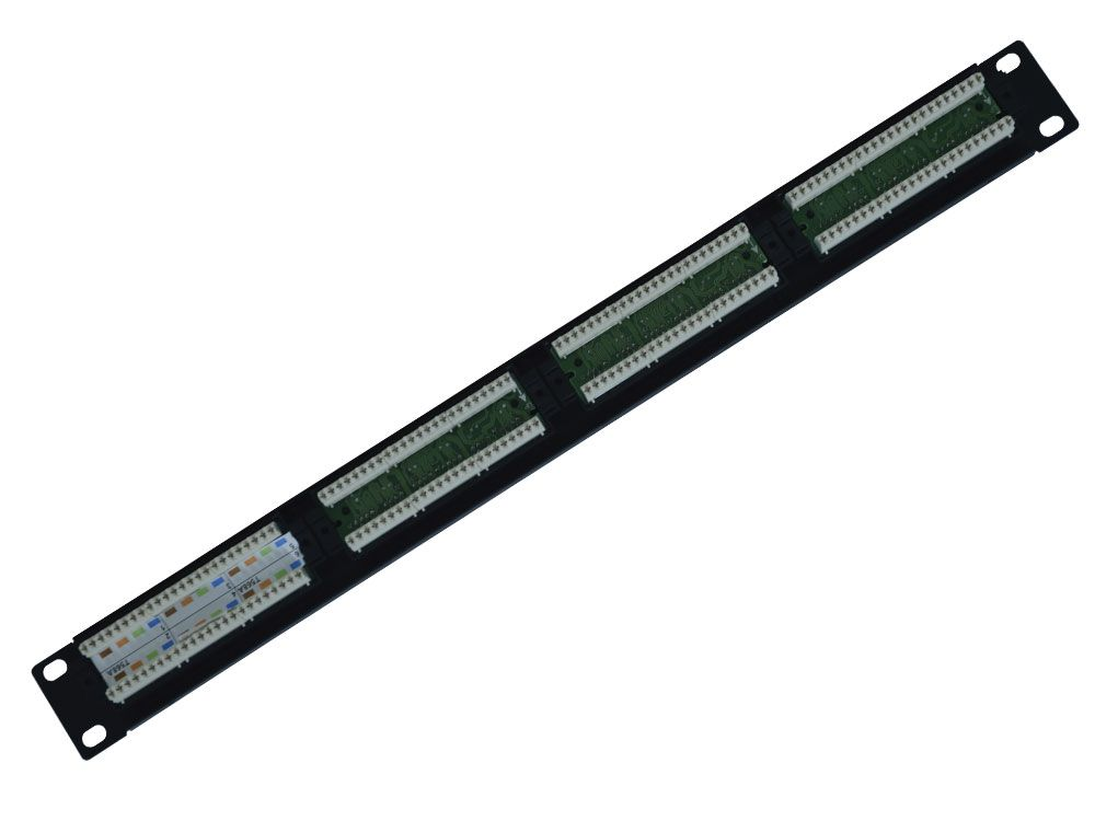 Patch Panel Universal 24 Portas CAT.5e Hikari   - MRE Ferramentas