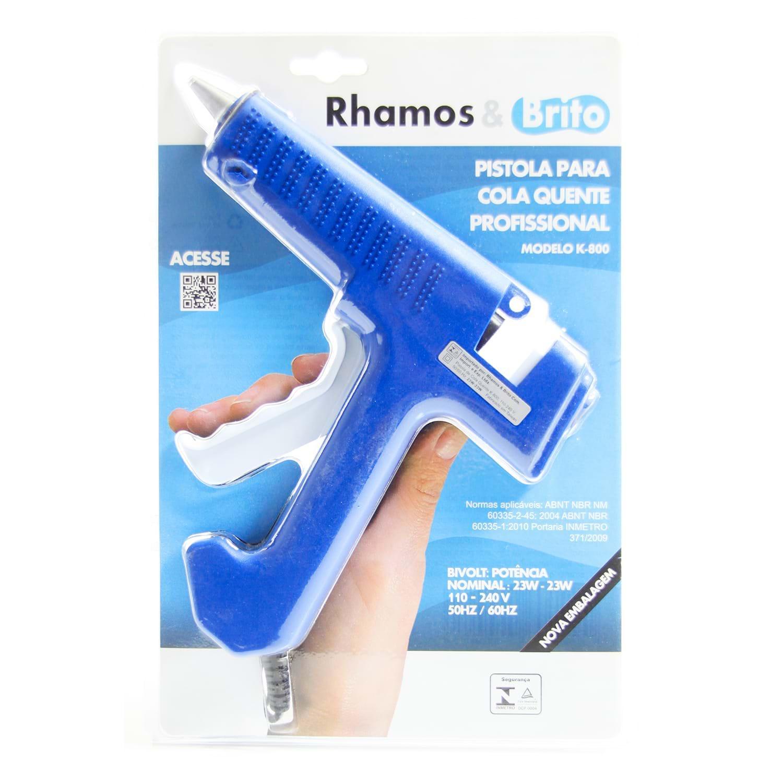 Pistola de Cola Quente Profissional 23W Rhamos e Brito K-800  - MRE Ferramentas