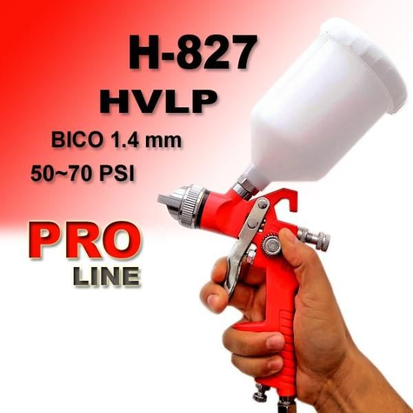 Pistola De Pintura Hvlp Bico 1,4 Mm 600ml H-827 Pro Line  - MRE Ferramentas