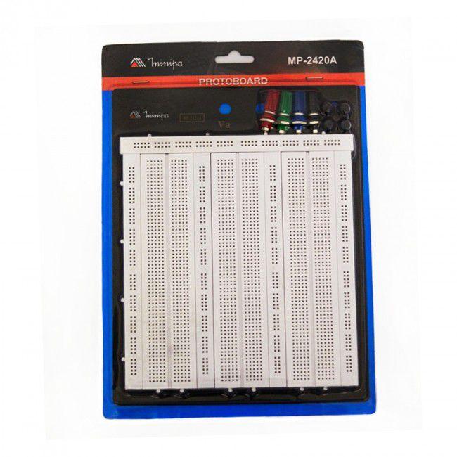 Protoboard 2420 pontos Minipa MP-2420A  - MRE Ferramentas