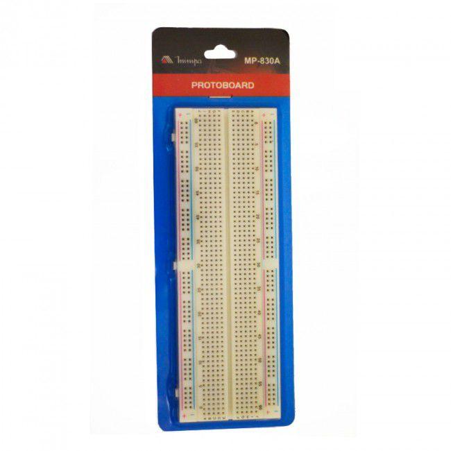 Protoboard 830 pontos Minipa MP-830A  - MRE Ferramentas