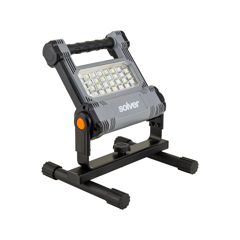 Refletor Portátil Pro Recarregável LED Solver SLP-501 (Acompanha Tripé SLP-TP1)  - MRE Ferramentas