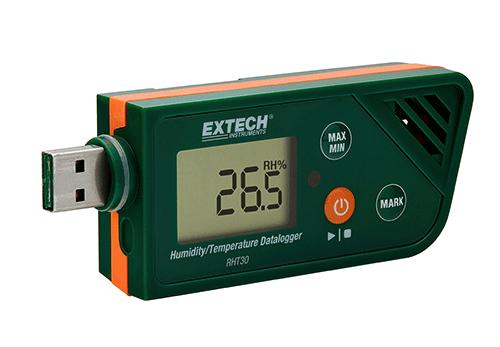 Registrador de dados de Umidade e Temperatura USB Extech RHT30  - MRE Ferramentas