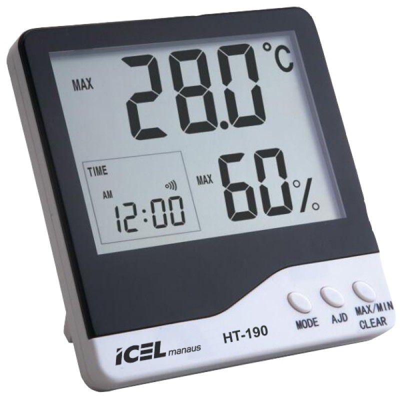 Relógio Termo-Higrômetro Digital Icel HT-190  - MRE Ferramentas