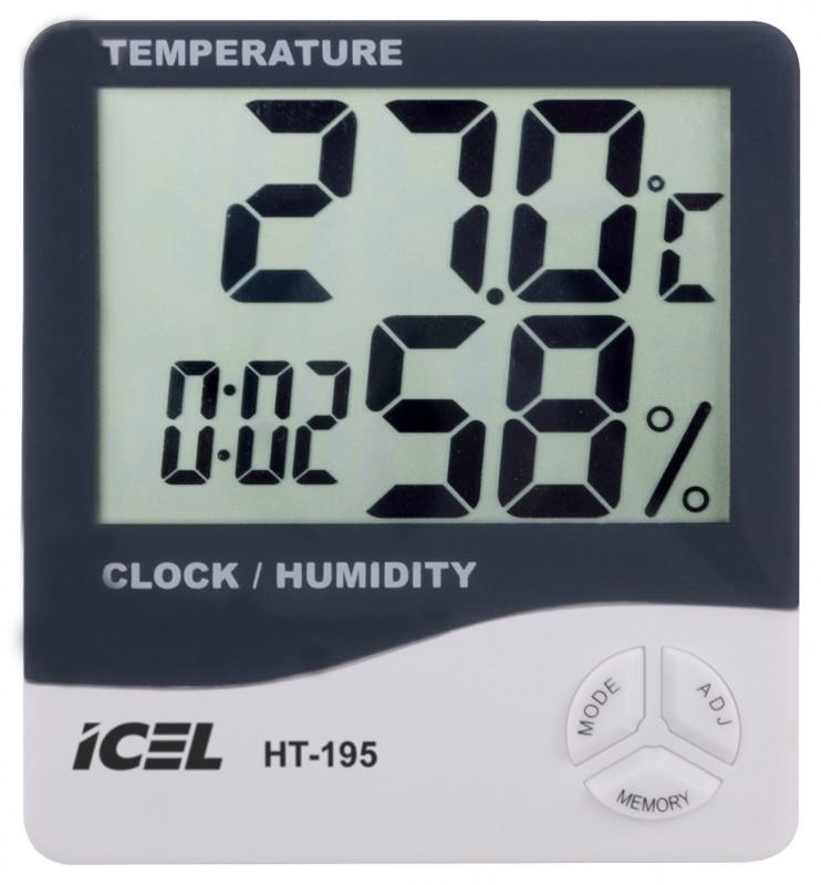 Relógio Termo-Higrômetro Digital Icel HT-195  - MRE Ferramentas