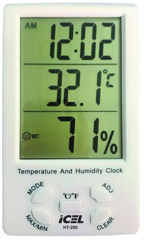 Relógio Termo-Higrômetro Digital Icel HT-200  - MRE Ferramentas