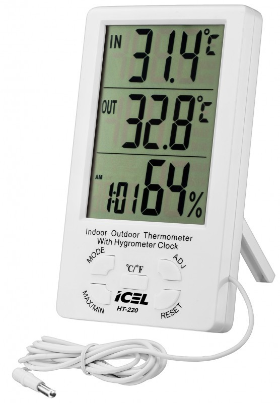 Relógio Termo-Higrômetro Digital Icel HT-220  - MRE Ferramentas