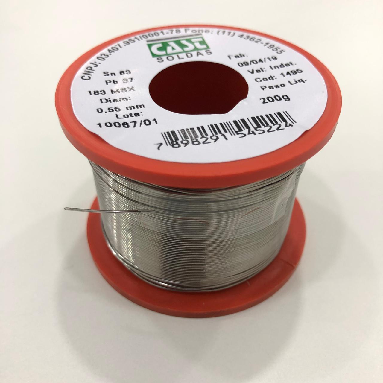 Rolo de Solda Fio 0,55mm Sn63Pb37 Cast 200g  - MRE Ferramentas