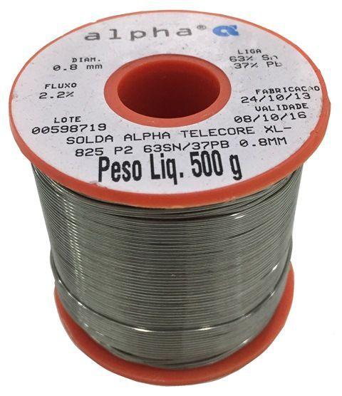Rolo de Solda Fio 0,8mm SN63PB37 Best Telecore XL-825 500g  - MRE Ferramentas
