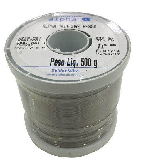 Rolo de Solda No Clean Telecore Fio 0,5mm SN63PB37 Best HF-850 500g  - MRE Ferramentas