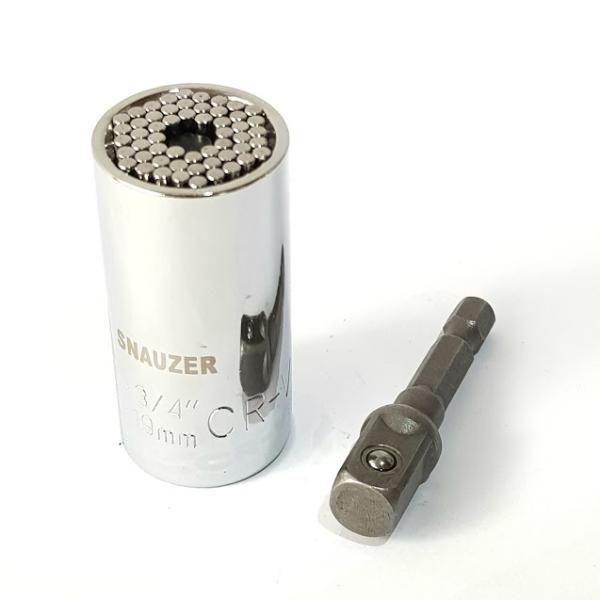 "Soquete Universal Multidimensional 3/8"" 7-19mm + Adaptador  - MRE Ferramentas"