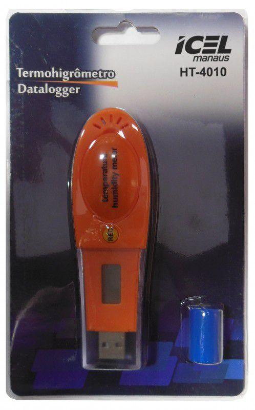 Termo-Higrômetro DataLogger Icel HT-4010  - MRE Ferramentas