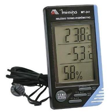 Termo-Higrômetro Digital Minipa MT-241  - MRE Ferramentas