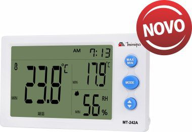 Termo-Higrômetro Digital Minipa MT-242A  - MRE Ferramentas