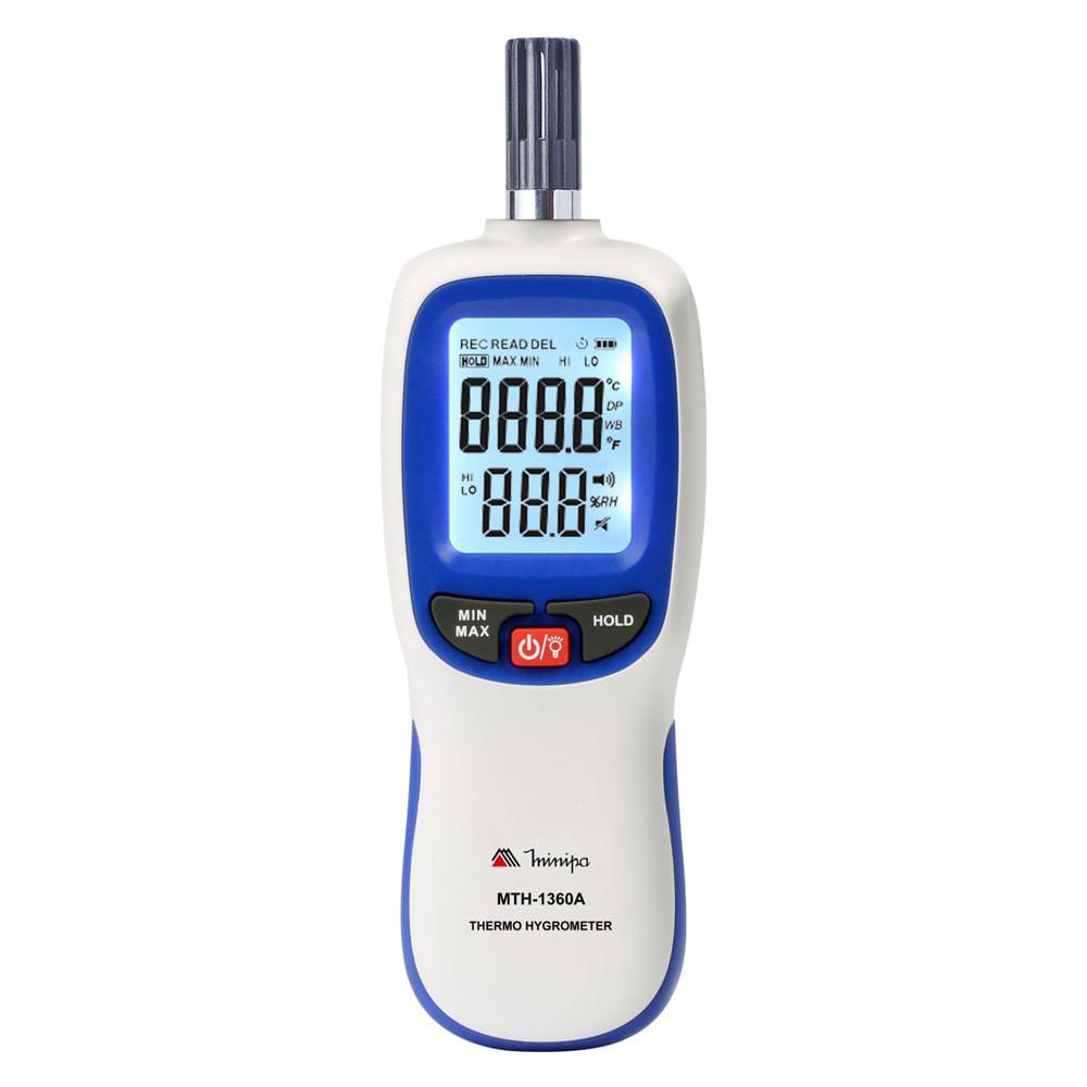 Termo-Higrômetro Digital Minipa MTH-1360A  - MRE Ferramentas
