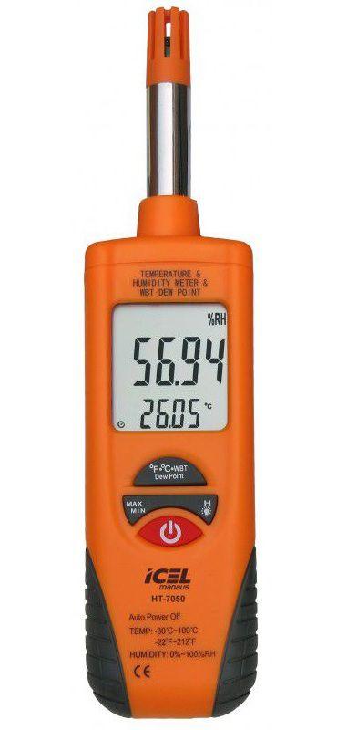 Termo-Higrômetro Icel HT-7050  - MRE Ferramentas