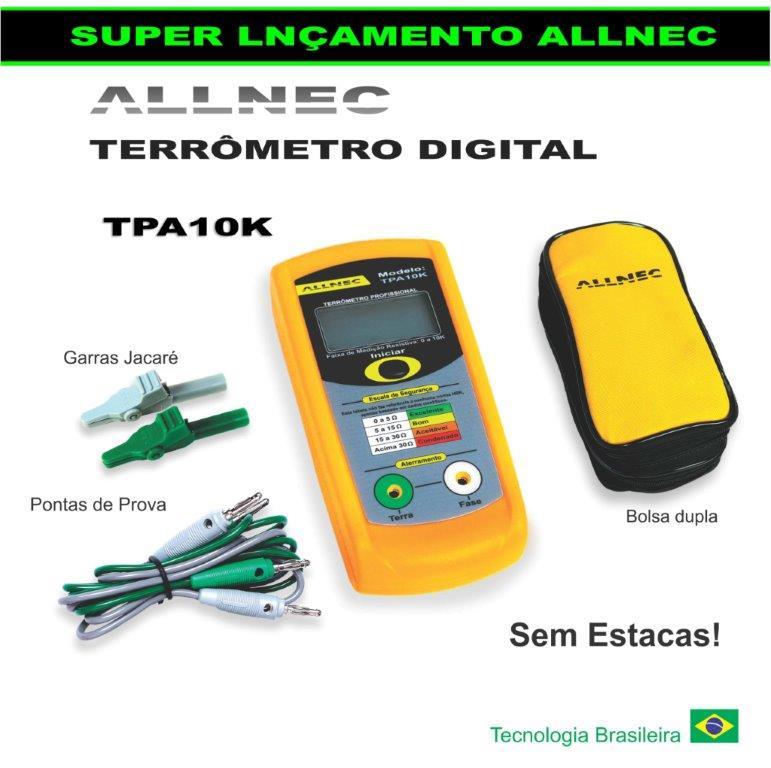 Terrômetro Digital Portátil Allnec TPA-10K  - MRE Ferramentas