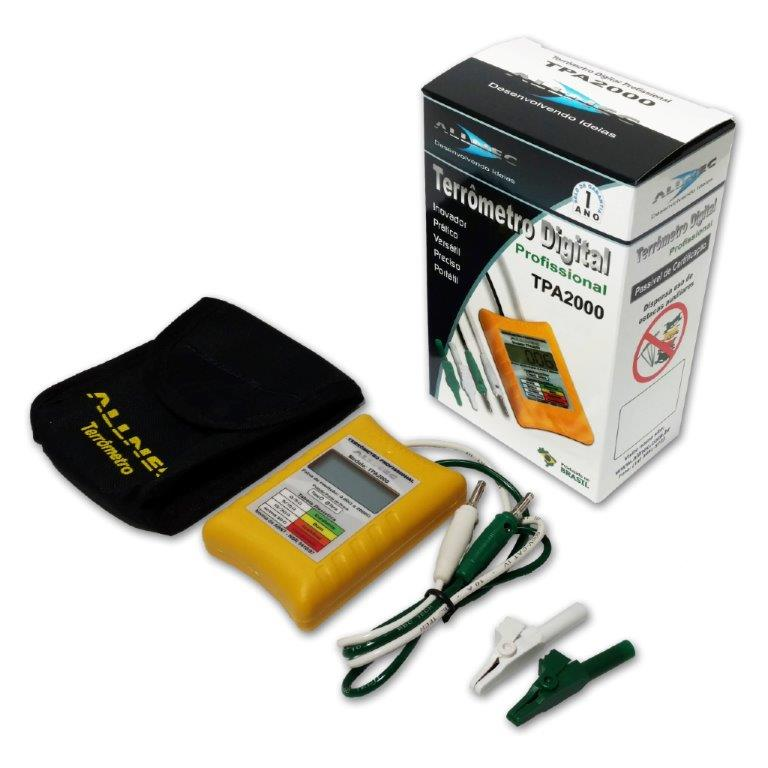 Terrômetro digital Portátil Allnec TPA-2000  - MRE Ferramentas