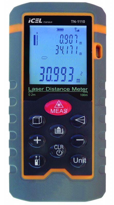 Trena a Laser Digital 100m Icel TN-1110  - MRE Ferramentas