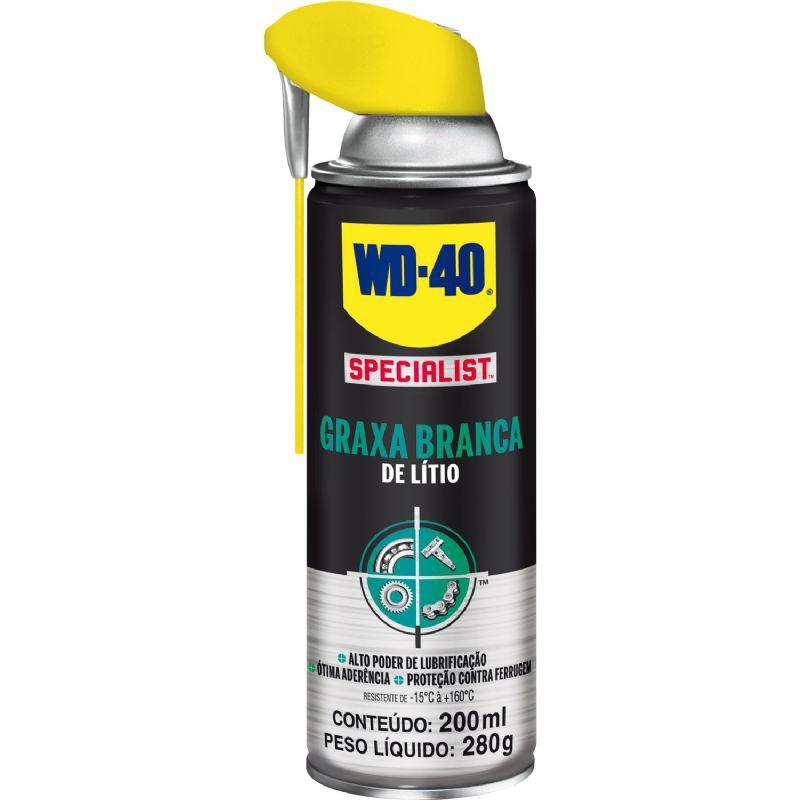 WD-40 Graxa Branca de Lítio SPECIALIST 200ml (Aerossol)  - MRE Ferramentas