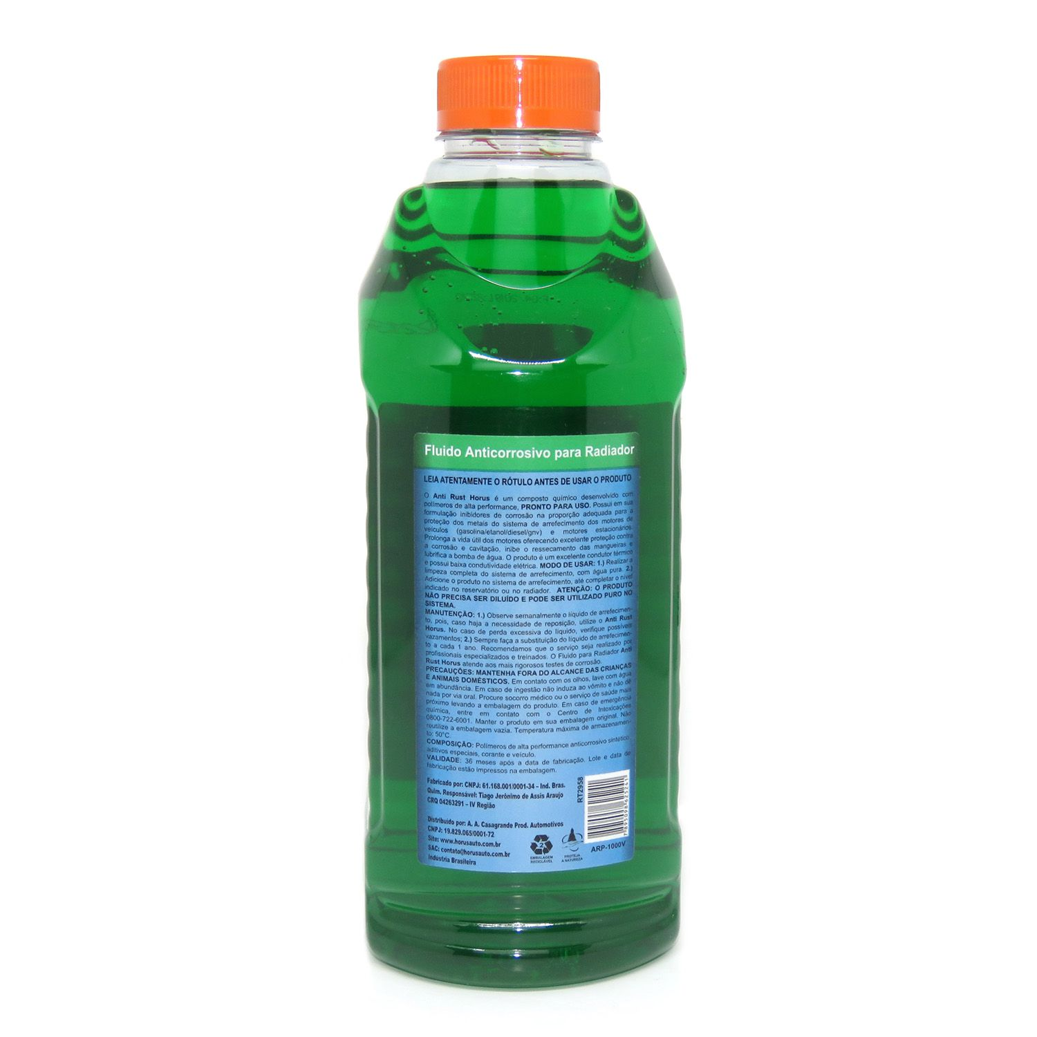 Anti Rust Fluído Anticorrosivo para Radiador Verde 1000ml