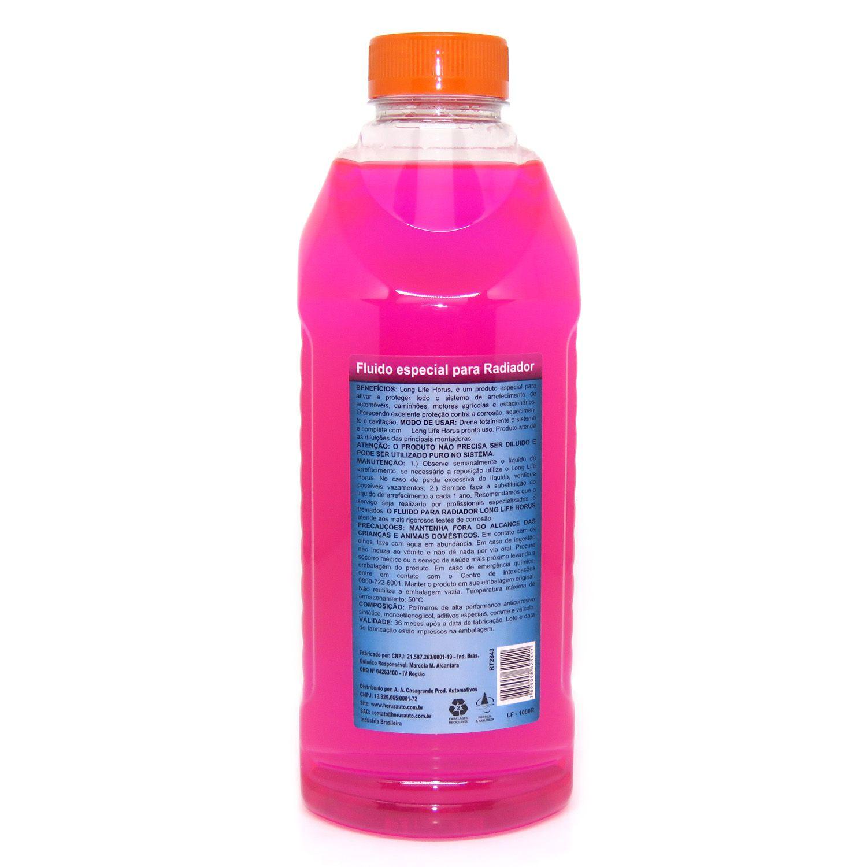 Long Life Fluído Premium para Radiador Rosa 1000ml