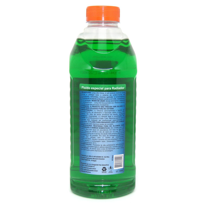 Long Life Fluído Premium para Radiador Verde 1000ml