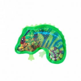 Brinquedo Outward Hound Invincibles Tough Skinz - Ultrarresistente - Mini Camaleão