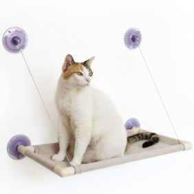 Cama de Gato para Janela Gatton Catbed Suede Marfim