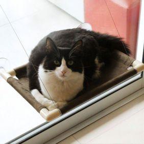 Cama de Gato para Janela Gatton Catbed Suede Marrom